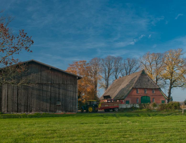 Ein Bauernhof auf dem ausgebildet werden kann